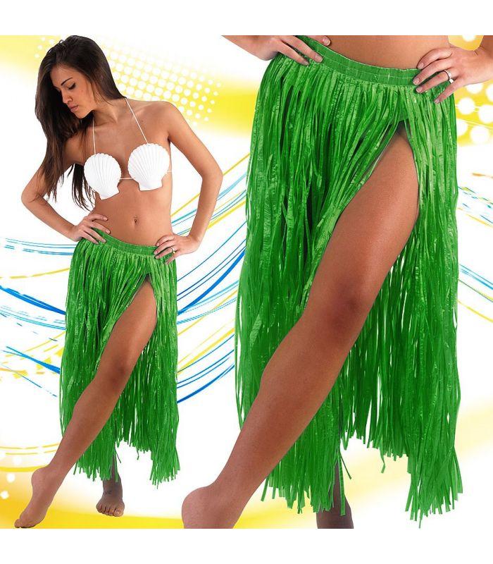 BLUE LUNGA Hula Gon na 80 cm Multicolore Con Dettaglio Fiore Hawaiano Costume