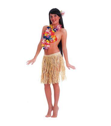 Gonna Hawaii in rafia color naturale l. cm. 45 ca.