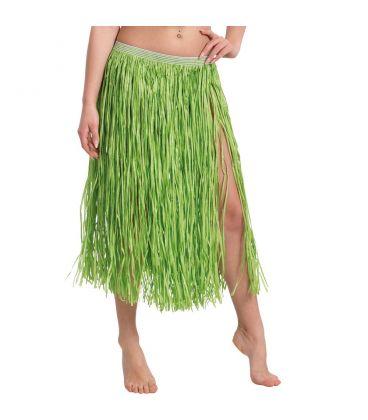 Gonna Hawaii in rafia verde l. cm. 75 ca.