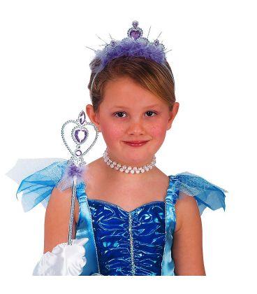 Set principessa argento marabout viola (corona e scettro)