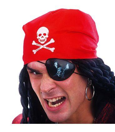 Set pirata (bandana, benda, orecchino)