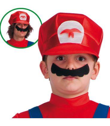 Cappello Mario in tessuto T.U.