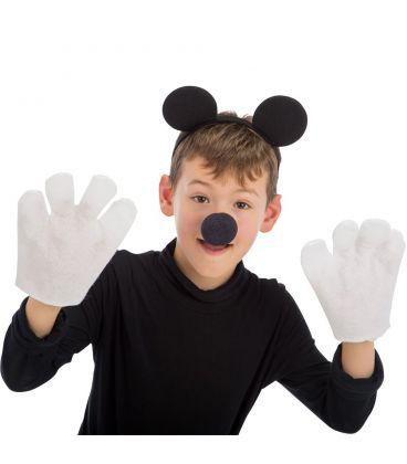 Set topolino (cerchietto, guanti e naso)