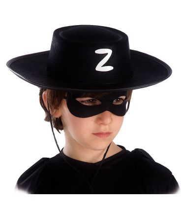Cappello cavaliere nero bimbo in feltro
