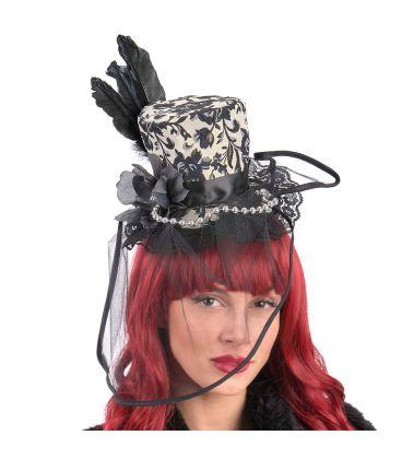 Cappellino in tessuto damascato veletta f9855643aef3
