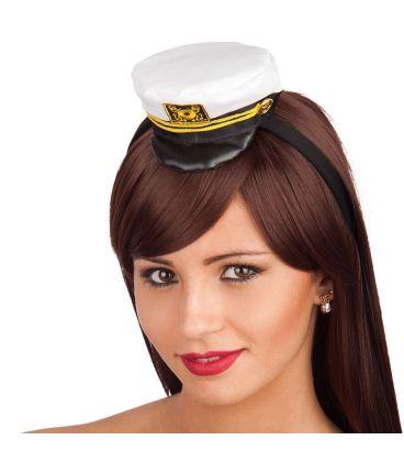 Mini cappello capitano in tessuto cerchietto  c6400bf58fcf