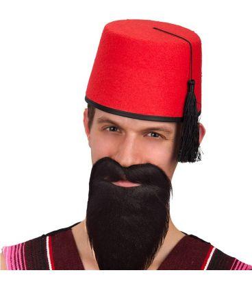 Cappello turco in feltro rosso  c7e18858fa31