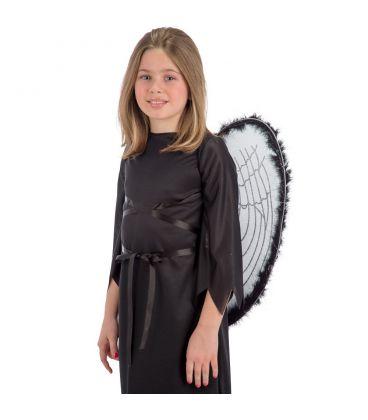 Ali angelo nero marabout h. cm. 55x50 ca.