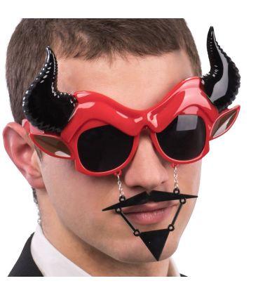 Occhiali diavolo baffi