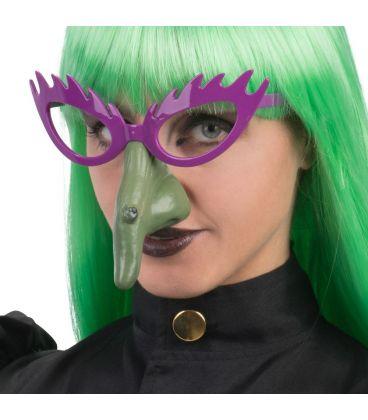 Occhiali strega naso verde