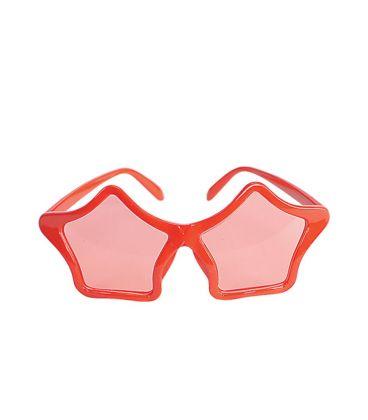 Occhiali stella rossi
