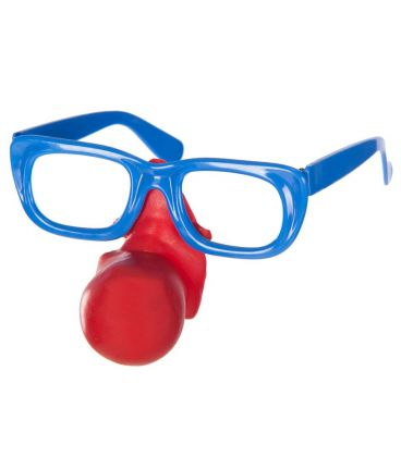 Occhiali clown naso