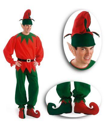 Set elfo (cappello, orecchie, copriscarpe)