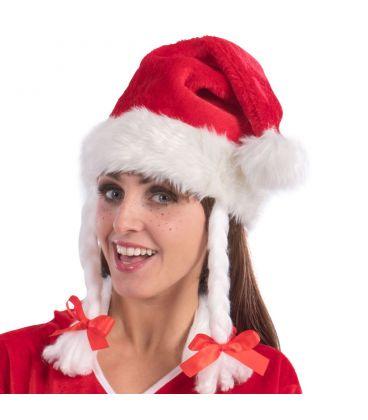 Babbo Natale Peluche.Cappuccio Babbo Natale In Peluche Trecce Euro 4 80