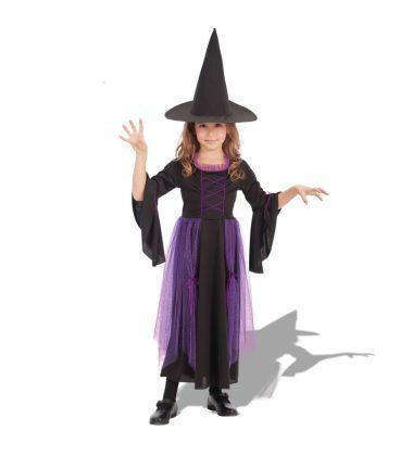 Costume streghetta nera e viola tg.VI