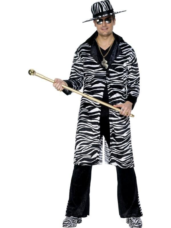Medio Nero e Oro da Uomo Gessato Gangster Suit-Costume mafia