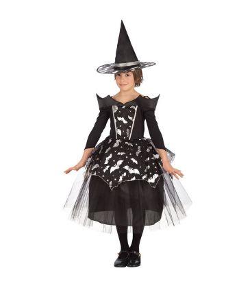 Costume streghetta pipistrelli T.U.(VII-VIII)