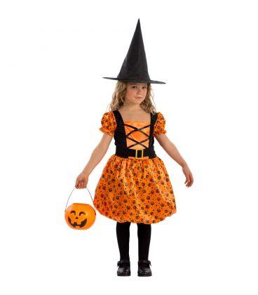 Costume streghetta arancione tg. IV