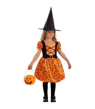 Costume streghetta arancione tg. V