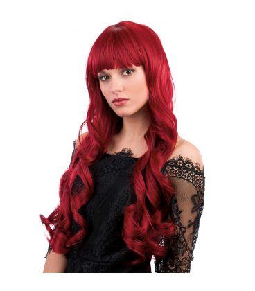 Parrucca rosso naturale mossa lunga frangia (effetto naturale ... 0fc36fedd931