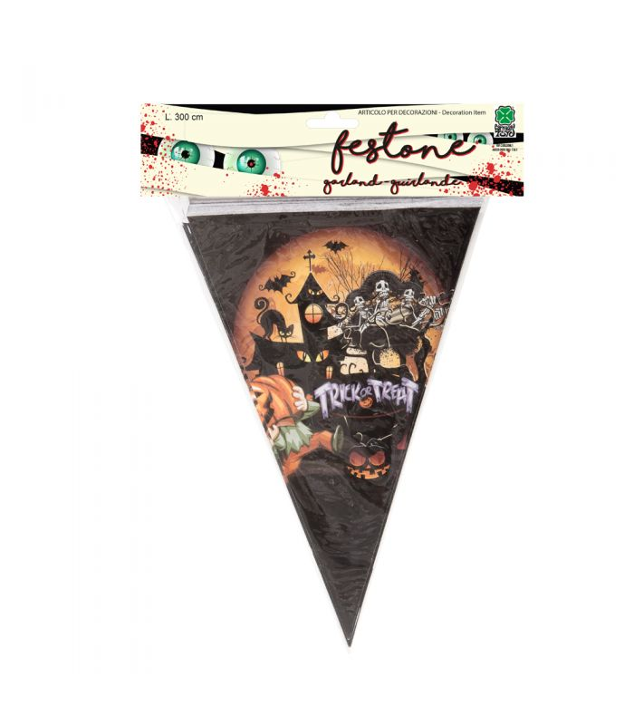 Festone bandierine Halloween in carta l. cm. 300 ca.  531cc705eee5