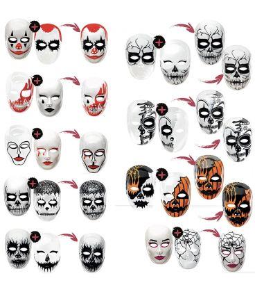 2 maschere viso medio in plastica in espositore