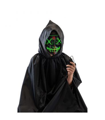 Maschera horror in plastica (batt.escl.)
