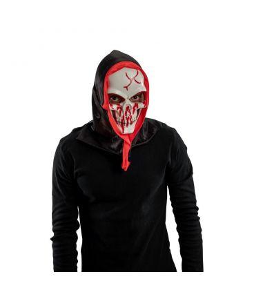 Maschera teschio insanguinato in plastica rigida