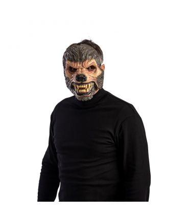 Maschera lupo in plastica c/mandibola mobile
