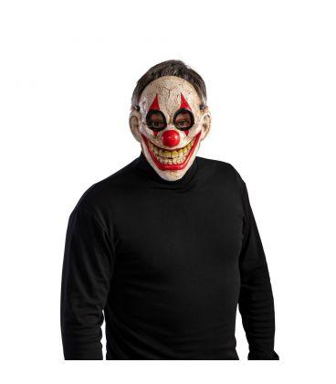 Maschera clown horror sorridente in plastica rigida