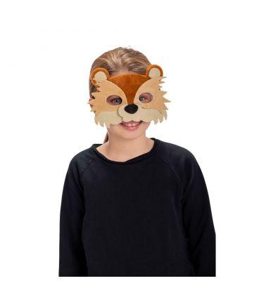 Maschera orsetto in vellutino