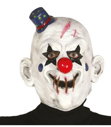 maschera clown con cappello