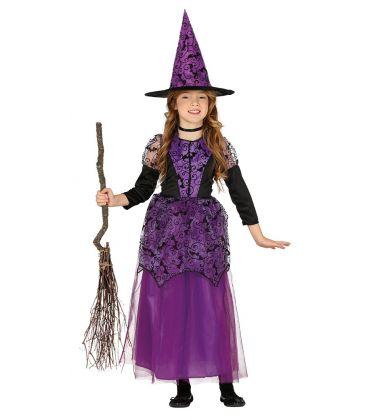 costume strega lilla 5-6 anni