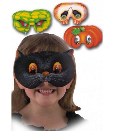 6 maschere bimbo in carta mod.ass. in busta c/cav.