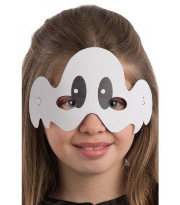 6 maschere bimbo fantasmino in carta in busta c/cav.