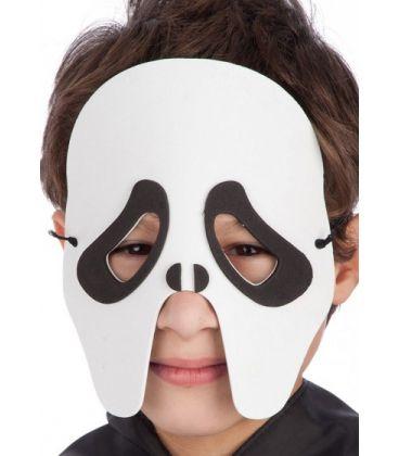 Maschera fantasma bimbo in eva in busta c/cav.