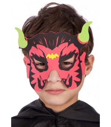 Maschera diavoletto bimbo in eva in busta c/cav.