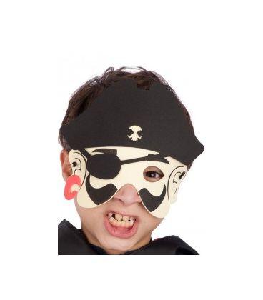 Maschera pirata bimbo in eva in busta c/cav.