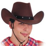 Cappello cow-boy marrone o nero in feltro