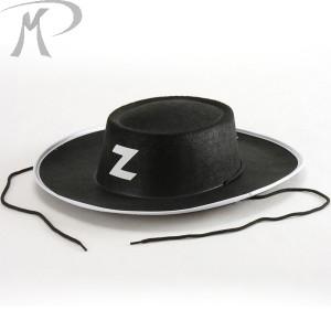 Cappello Cavaliere nero adulto in feltro