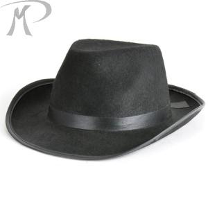 Cappello Gangster nero in feltro Prezzo 4,40 €