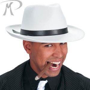 Cappello Borsalino bianco in feltro