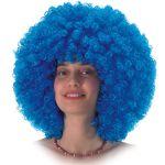 Parrucca Super Ricciolona blu (gr.190 ca.) in valigetta