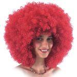 Parrucca Super Ricciolona rossa (gr.190 ca.) in valigetta