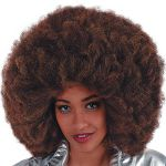 Parrucca Afro Caffè cm.40 in valigetta