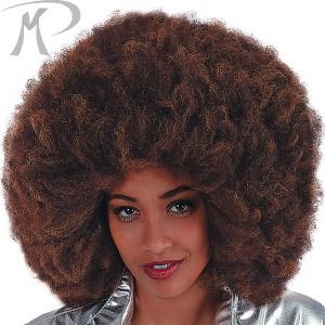 Parrucca Afro Caffè cm.40 in valigetta Prezzo 10,40 €