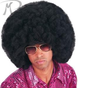 Parrucca Africa Nera cm.40 (occhiali esclusi) Prezzo 10,40 €