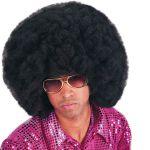 Parrucca Africa nera ø cm.40 (occhiali esclusi) in valigetta