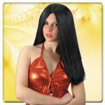 Parrucca Top girl nera in valigetta