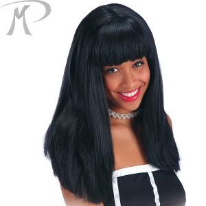 Parrucca Cosmic girl nera in valigetta
